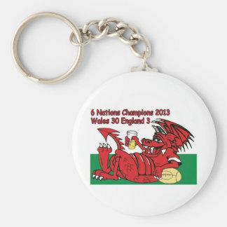 Dragón Galés, 6 campeones de las naciones, País de Llavero Personalizado