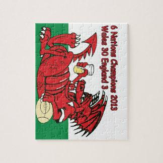Dragón Galés, 6 campeones de las naciones, País de Puzzles