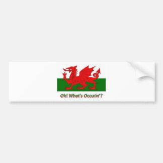 dragón galés pegatina para auto