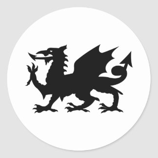 Dragón Galés Etiqueta Redonda