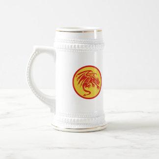 Dragon Gargoyle Crouching Circle Retro Beer Stein