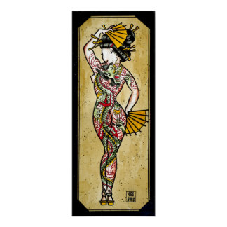 Dragon Geisha Print