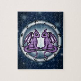 Dragon Gemini Zodiac Puzzle