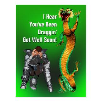Dragon Get Well Postcard