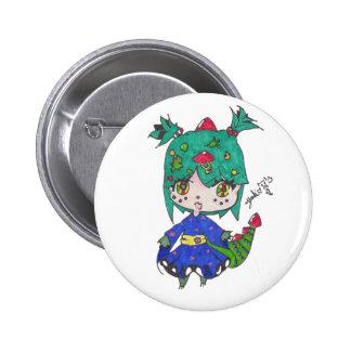 dragon girl edited pinback button