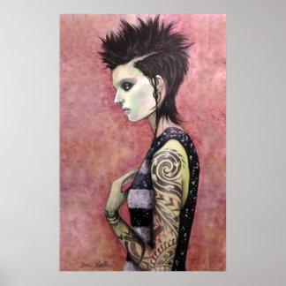 Dragon Girl - Original art by Dori Hartley Print