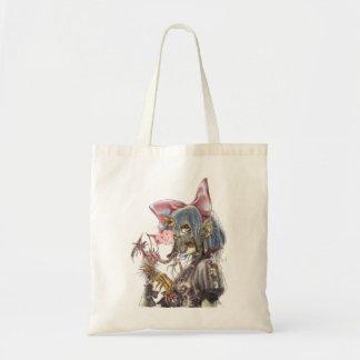 Dragon girl tote bag