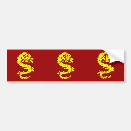 dragon golden bumper sticker