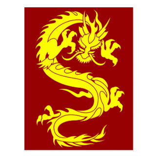 dragon golden postcard