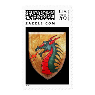 Dragon Golden Shield Postage
