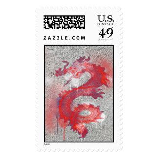 Dragon Graffiti Postage Stamps