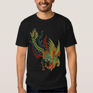 Dragón gráfico con la cabeza del gallo playera