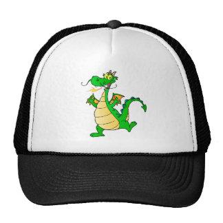 Dragon Green Happy Fantasy Fiction Drawing Cartoon Trucker Hat