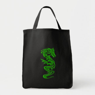 Dragon green tote bag