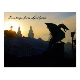 dragon greetings postcard