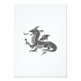 Dragón gris asiático invitaciones personales