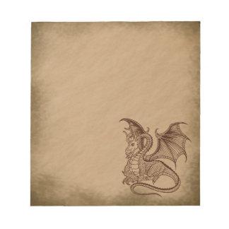 Dragón-grunge Libretas Para Notas