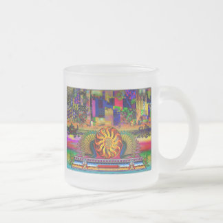Dragon Guardians of Paradise Abstract Sky Frosted Glass Coffee Mug