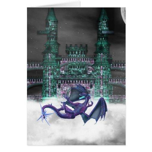 Dragon Guarding Castle  Greeting Card