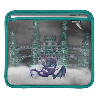 Dragon Guarding Castle iPad Sleeve
