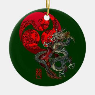 Dragon Guitar Tomoe Ceramic Ornament