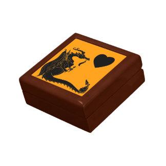 Dragón hambriento del recorte negro cajas de joyas