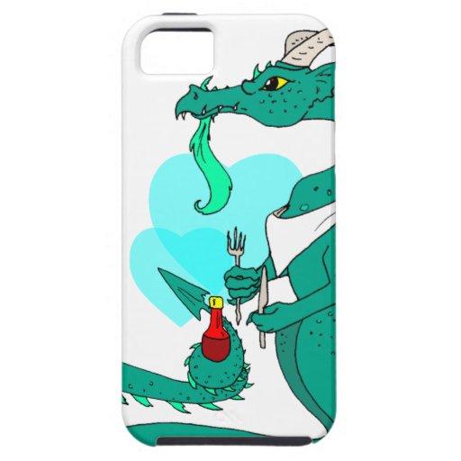 Dragón hambriento iPhone 5 carcasas
