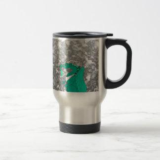 Dragón hambriento taza de viaje de acero inoxidable