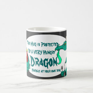 Dragón hambriento taza básica blanca
