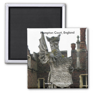 Dragon, Hampton Court, England 2 Inch Square Magnet