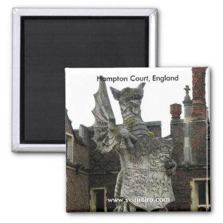 Dragón, Hampton Court, Inglaterra Imán Cuadrado