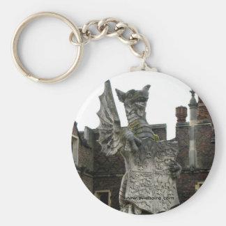 Dragón, Hampton Court, Inglaterra Llavero Redondo Tipo Pin