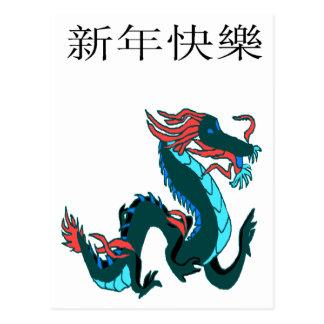 Dragon Happy New Year Postcard