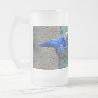 Dragon Hatching Frosted Glass Beer Mug