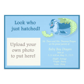 "Dragon Hatchling Birth Announcement 5"" X 7"" Invitation Card"