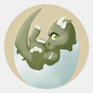 Dragon hatchling classic round sticker
