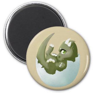 Dragon hatchling 2 inch round magnet
