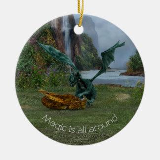 Dragon Hatchlings Ceramic Ornament