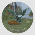 Dragon Hatchlings Classic Round Sticker