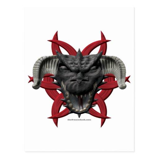 Dragon Head - Black Post Cards