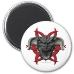 Dragon Head - Black Refrigerator Magnet