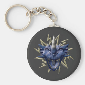 Dragon Head - Blue Keychain