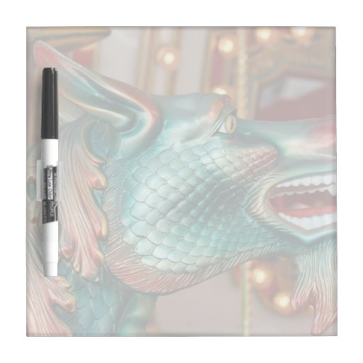 dragon head carousel ride fair image Dry-Erase whiteboard