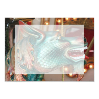 dragon head carousel ride fair image personalized invitations