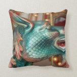 dragon head carousel ride fair image pillows