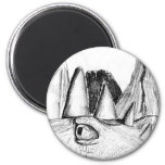 Dragon head drawing castle on hill beast magnets