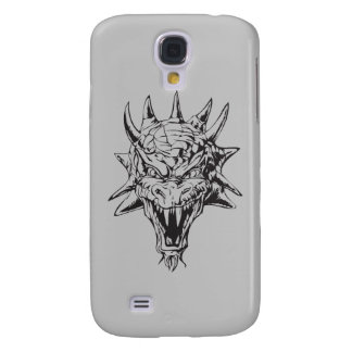 Dragon Head on Silver Samsung Galaxy S4 Cover