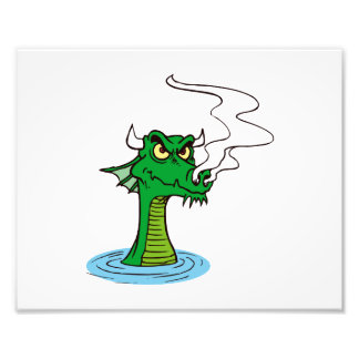 dragon head out of water horned.png photo print