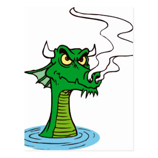 dragon head out of water horned.png postcard
