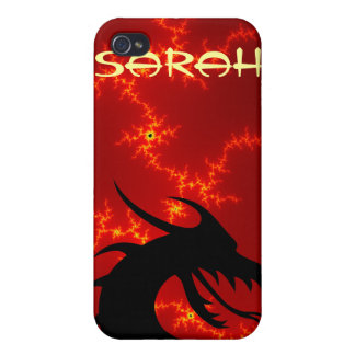 Dragon head red iPhone 4 cover